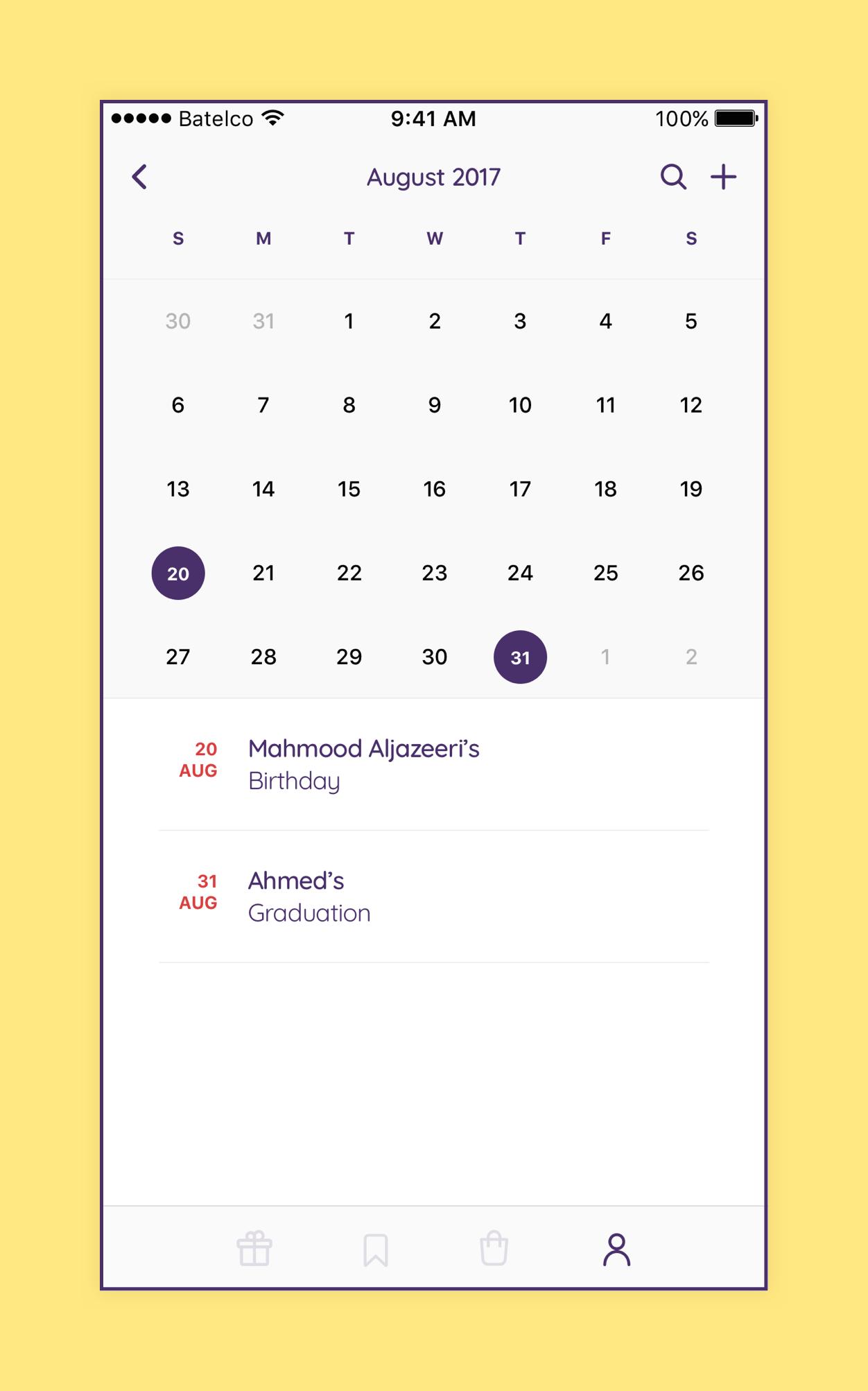 Bundally 52 Calendar